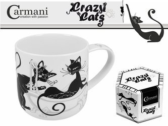 Carmani Crazy Cats Kubek porcelanowy 500ml Kąpiel