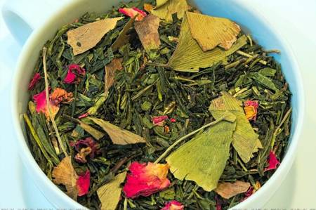 Herbata zielona - Ginkgo Japońska Wiśnia