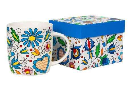 Kubek Hania w pudełku - wzór kaszubski