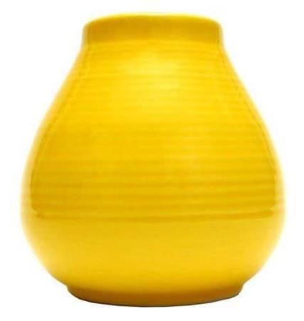Matero Ceramiczne Pera żółte w prążki