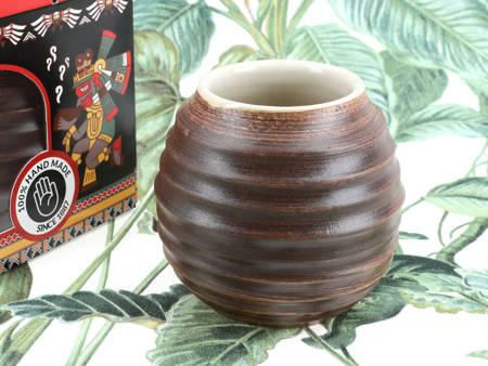 Matero ceramiczne 400ml J.M. Perez brązowe